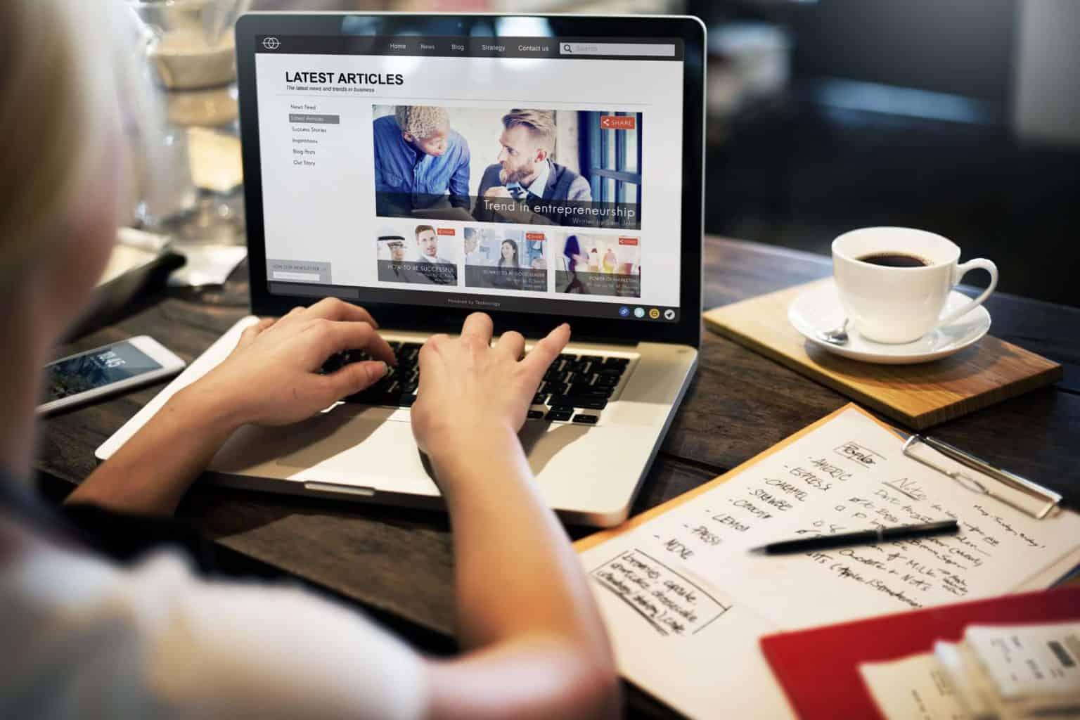 Homepage Gestaltung Unternehmen