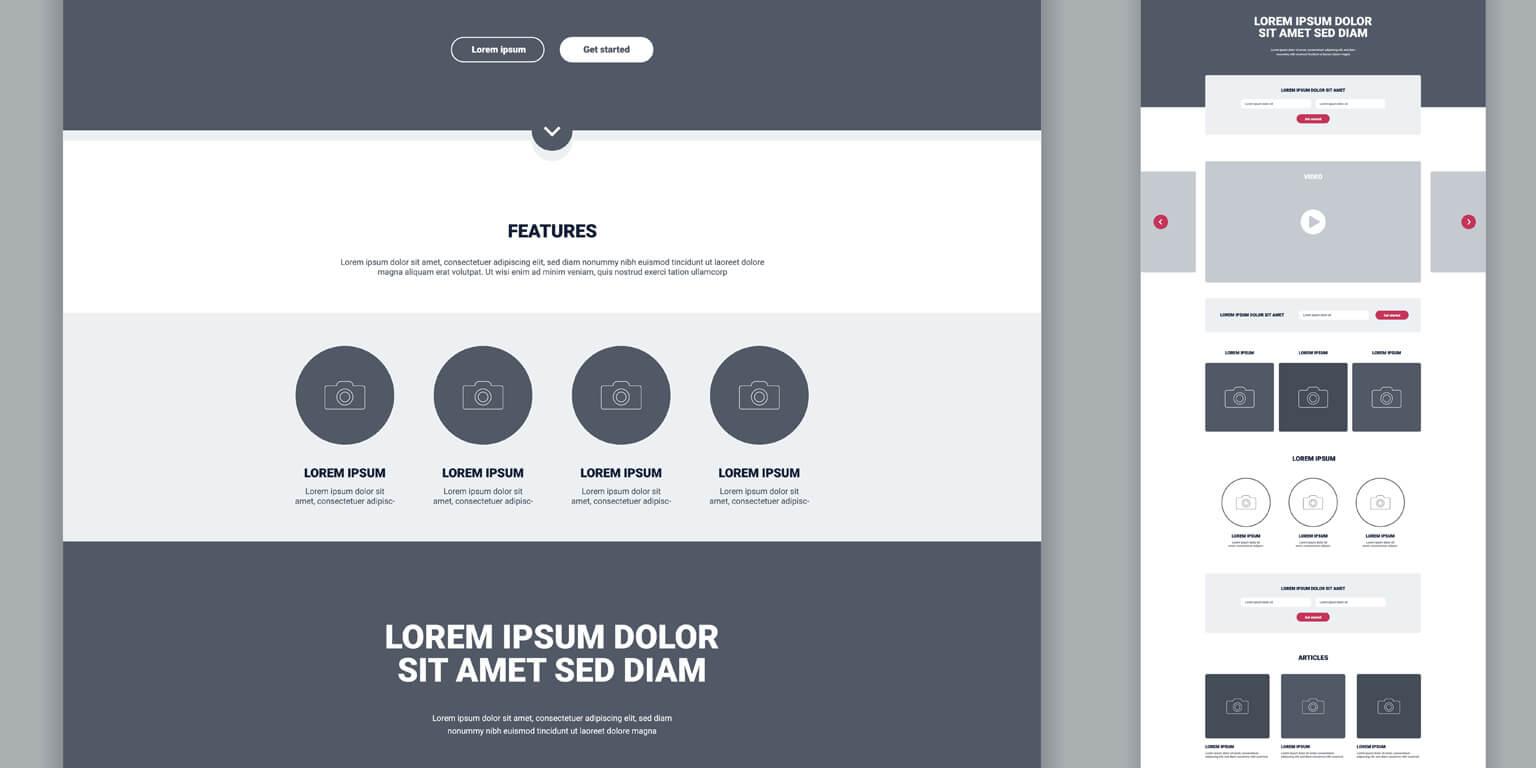 Onepage Websites Design