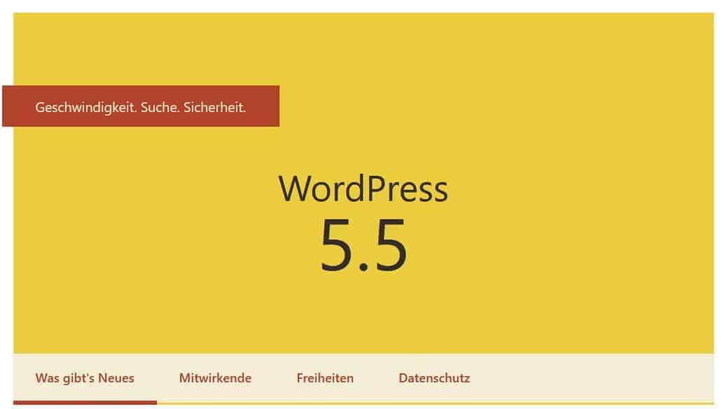 WordPress 5.5 Update veröffemtlicht
