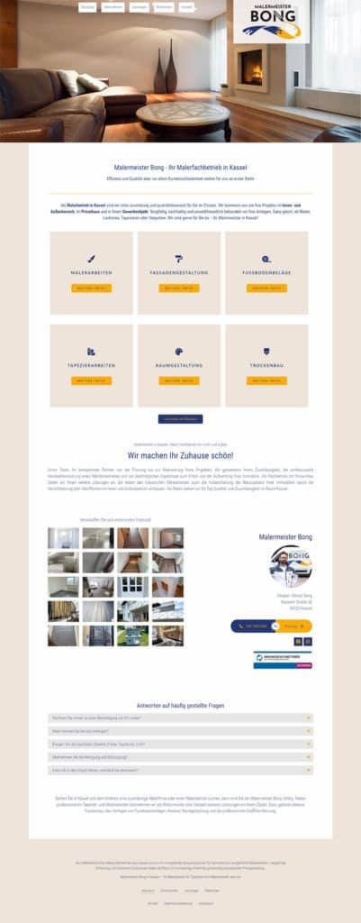 Webdesign Referenz - Malermeister Bong Kassel