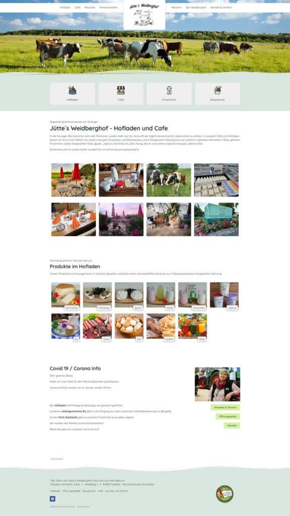 Webdesign Referenz Weidberghof