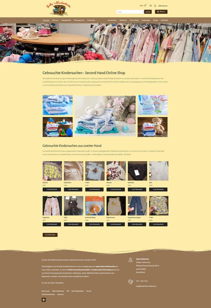 Webdesign Online Shop Refererenz Kinderkiste Fuldatal