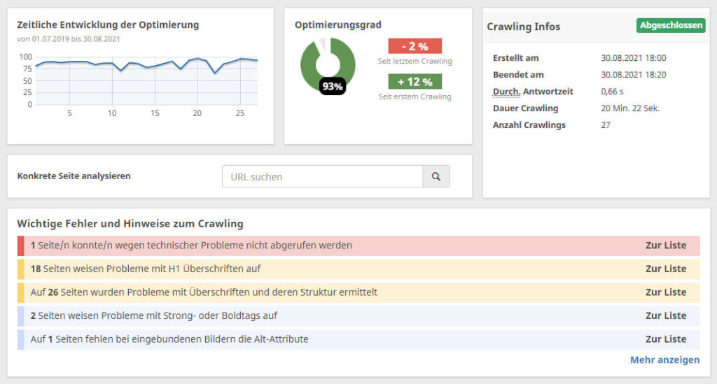 SEO Analyse - OnPage Analyse und Website Check